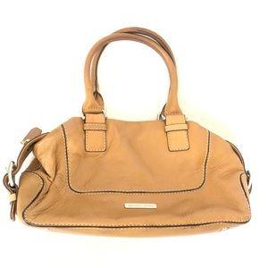 Michael Kors Cream Tan Leather Satchel Handbag